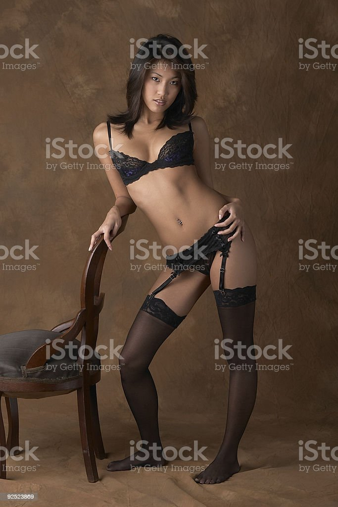 woman Asian black outdoor