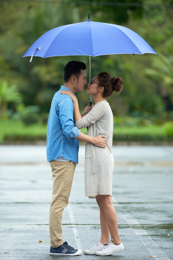 outdoor Wet couple asian