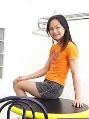 Young shaved asian POV