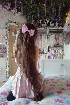 hair Anime girl pastel