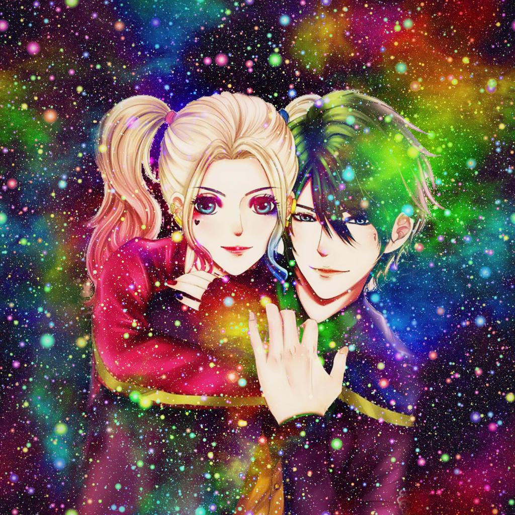 joker Anime and harley quinn