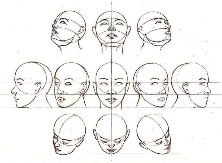 face positions Anime