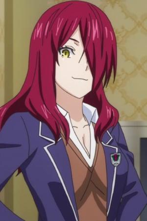 black Anime red eyes hair girl