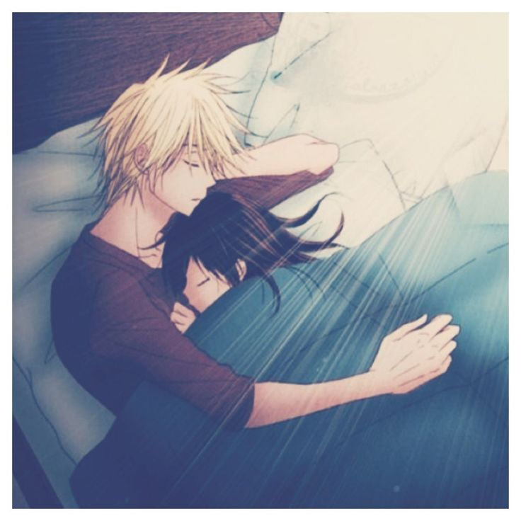 in bed love Anime