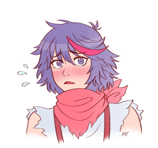 anime girl Messy