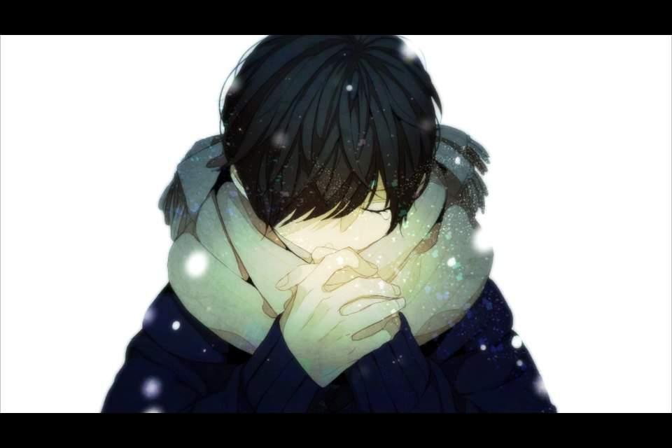 Black hair anime boy