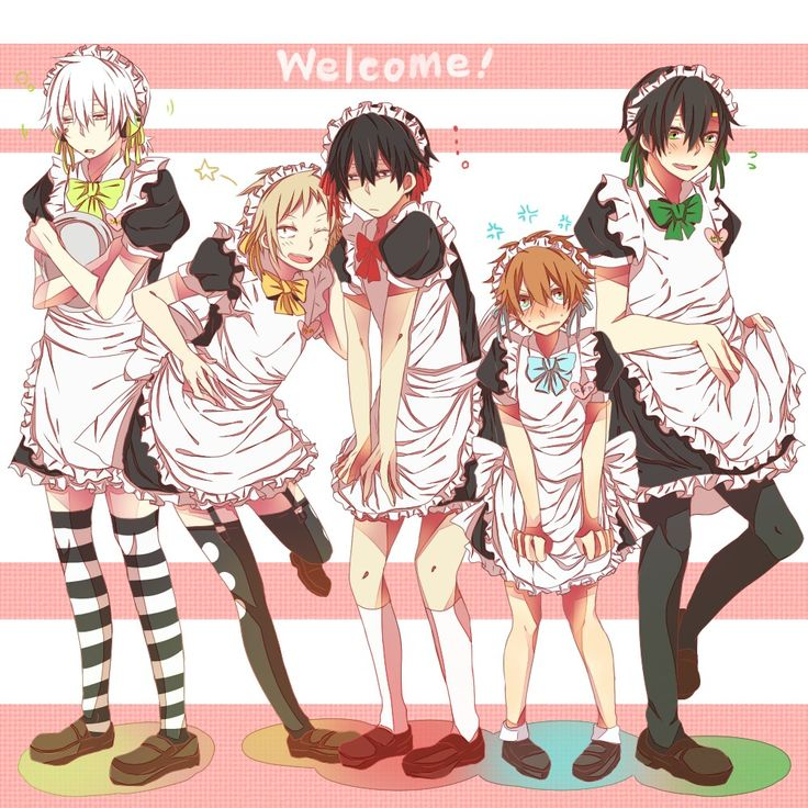 maid in outfit boy Anime