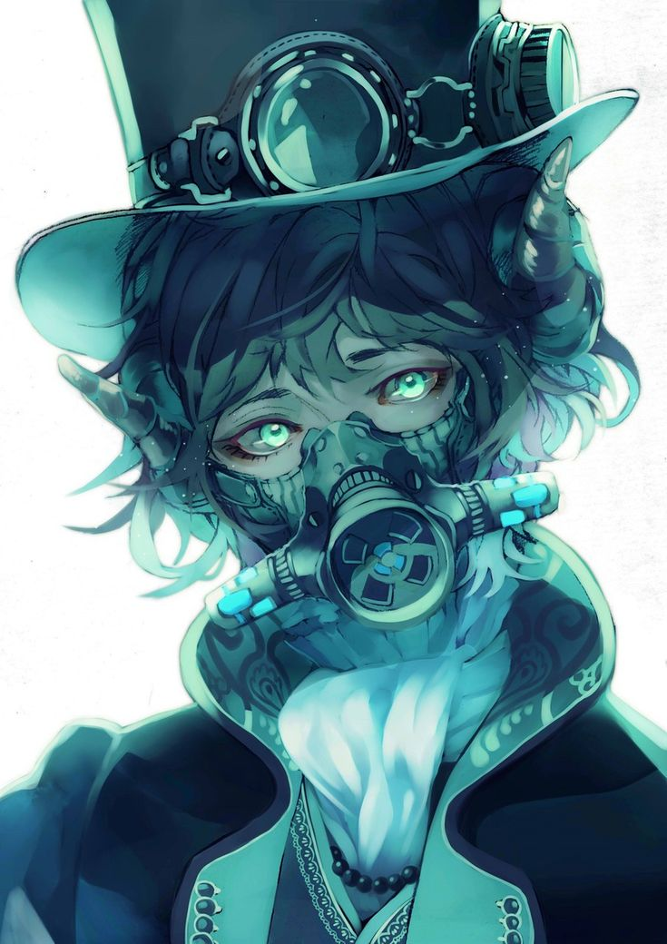 gas with mask boy Anime