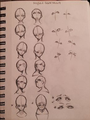 Anime face positions