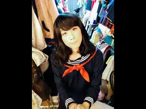 Otngagged uniform crossdresser asian