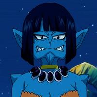 Blue skin anime characters
