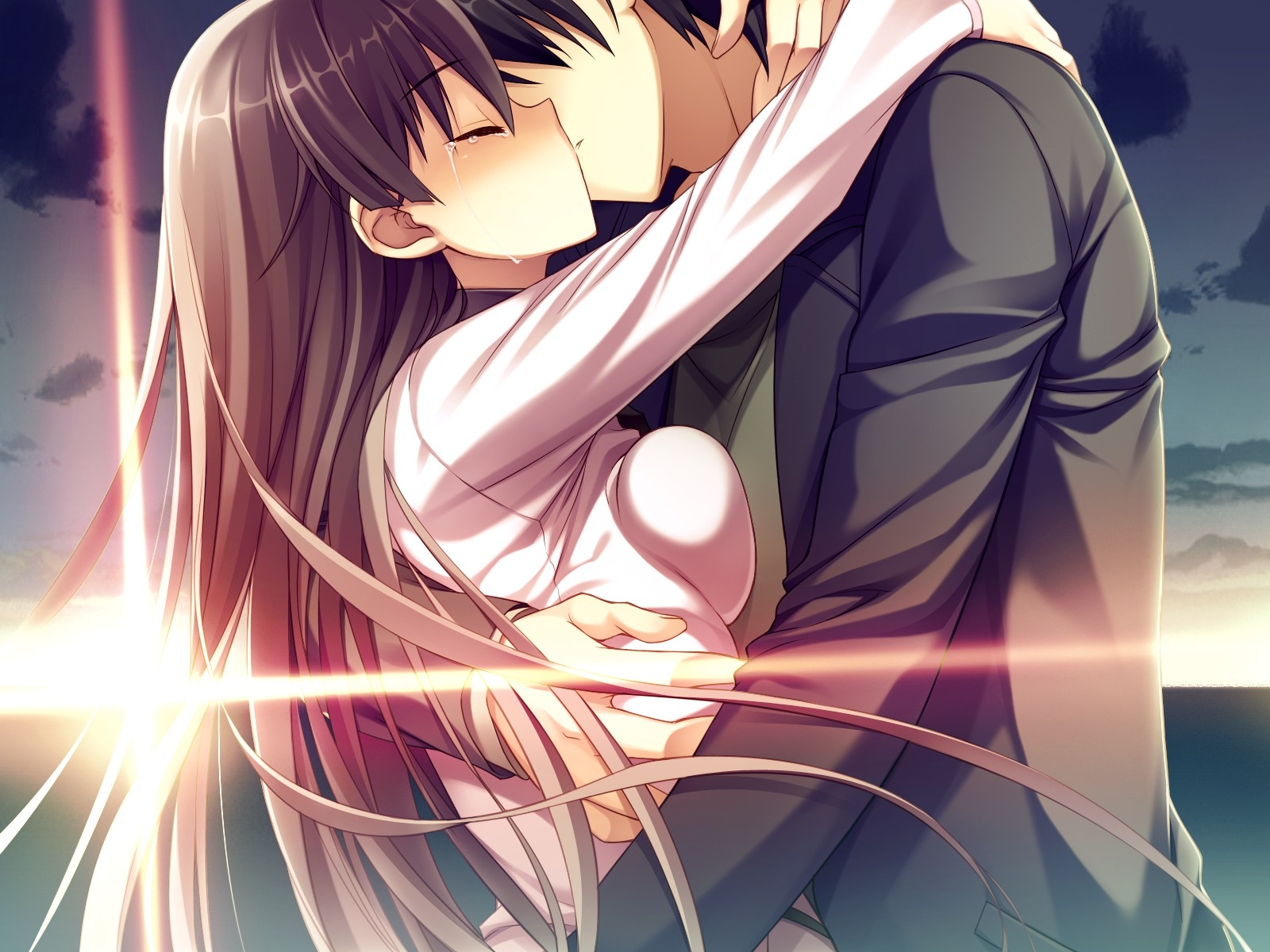 naked kissing Anime girls