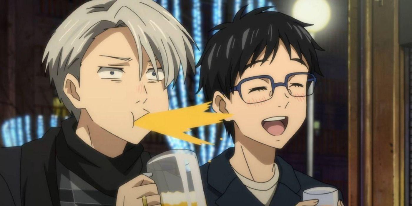 Two anime guys kissing