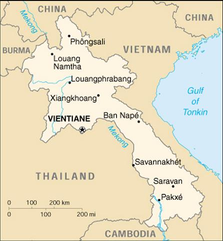 Info on asian county laos