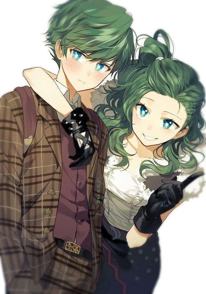 and girl together Anime boy