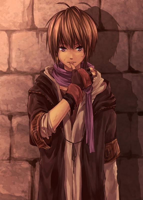 skinned boy Dark anime