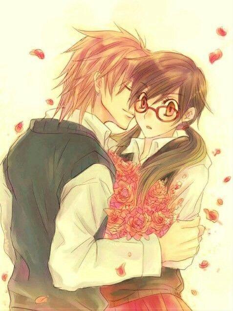cheek Anime on kissing girl boy