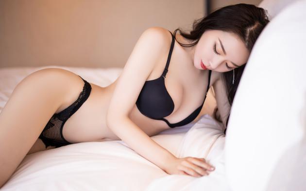 Asian watching panties black