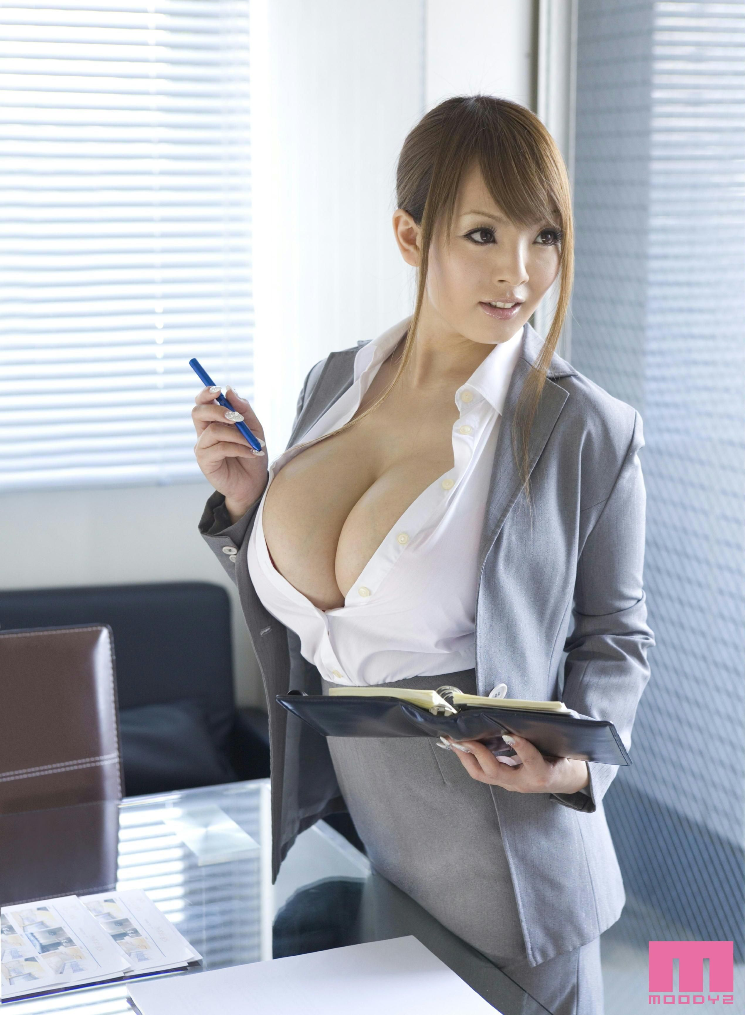 makeout curvy secretary Asian