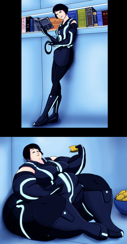 anime deviantart Fat weight gain