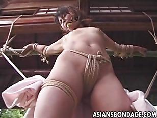 asian uncensored Outdoor bondage