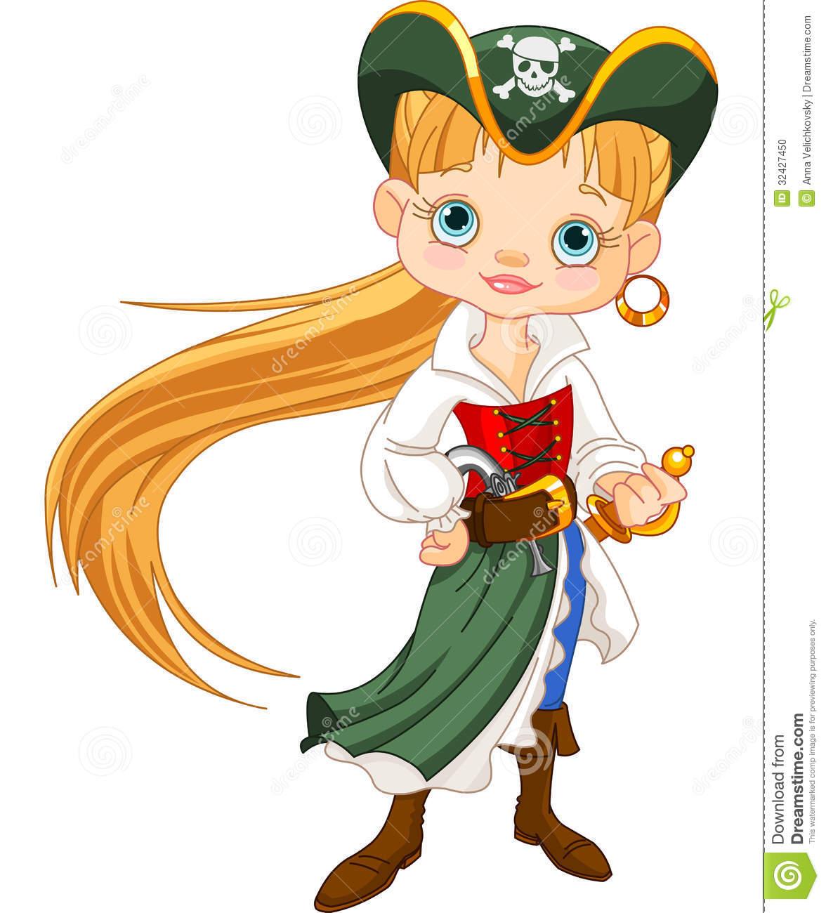 girl Cute anime pirate