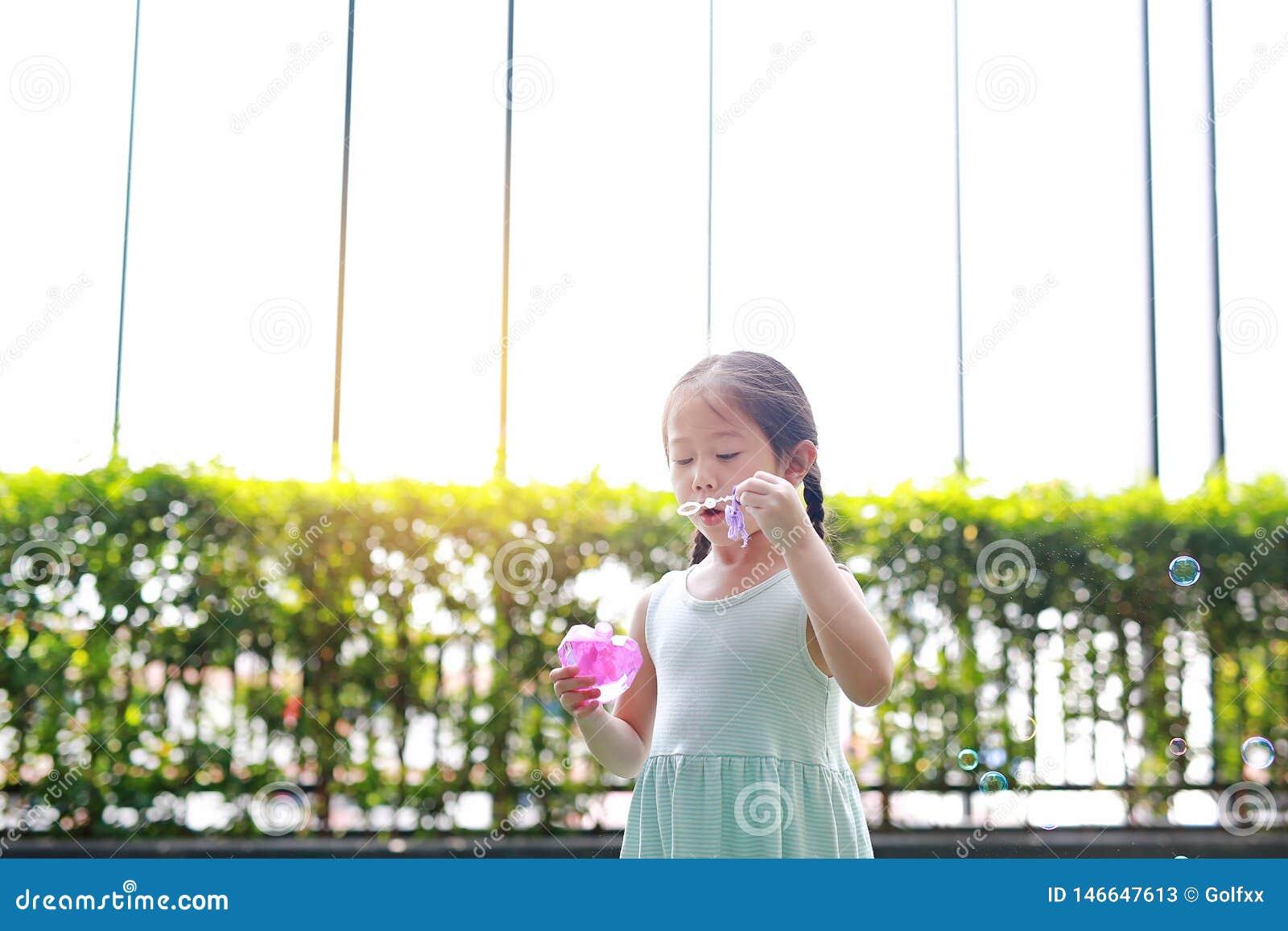 woman bubble Asian outdoor