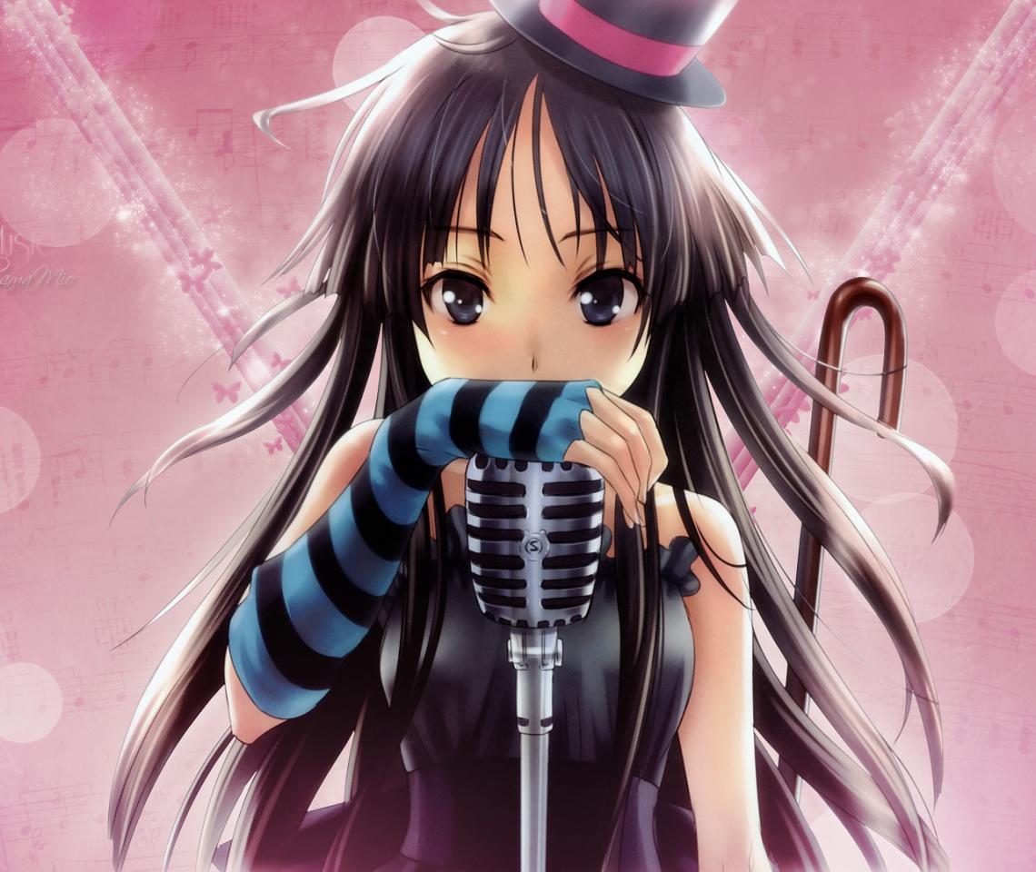 black Anime eyes girl hair black