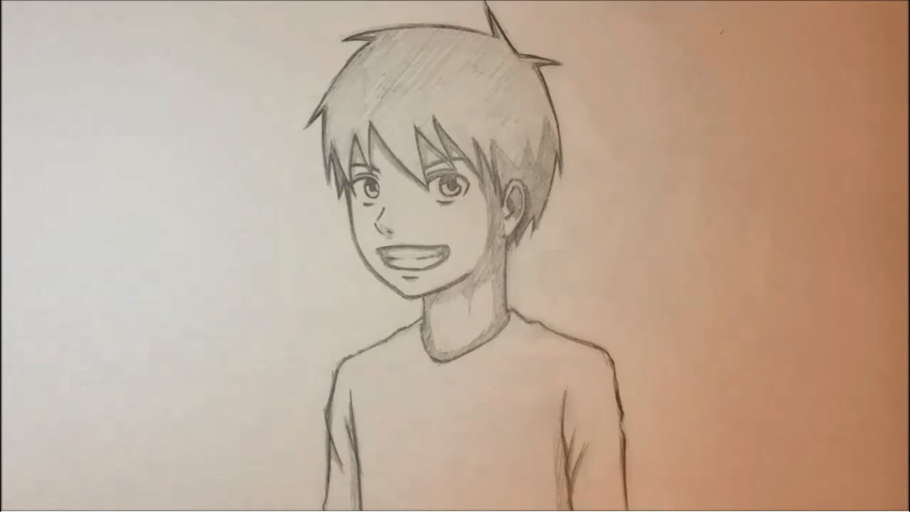 view face side Anime male