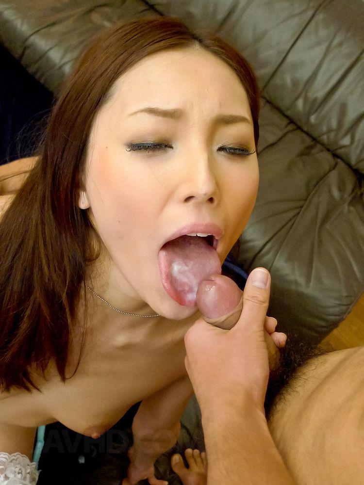 mouth watching panties Cum asian