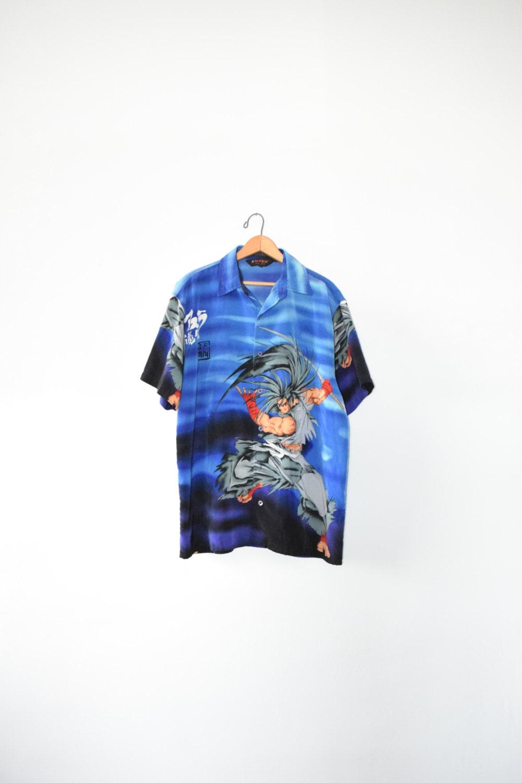 down shirt button Anime