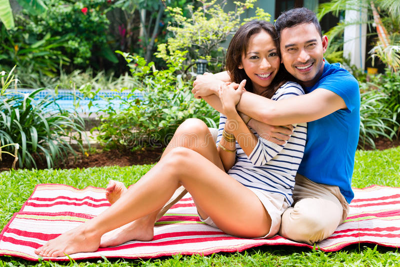 woman Asian couple outdoor