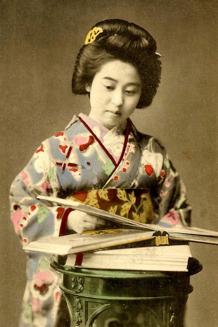 Geisha girl in japan