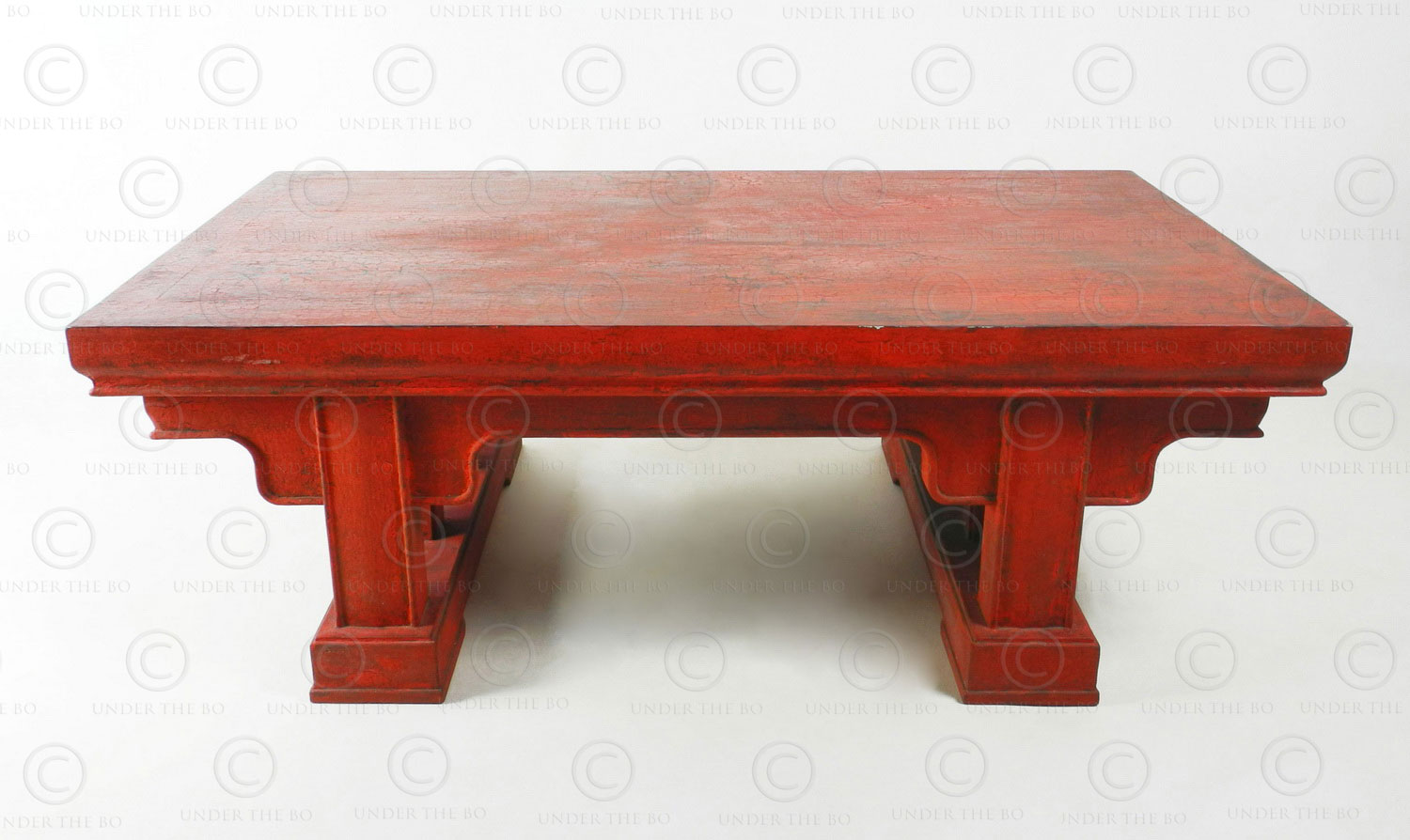 table Asian round red