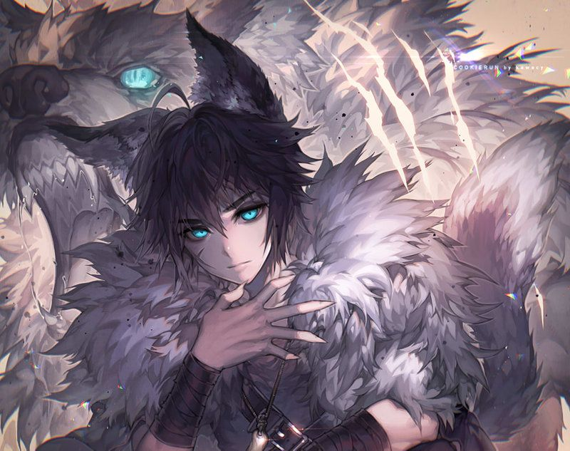 boy with ears Anime and tail wolf