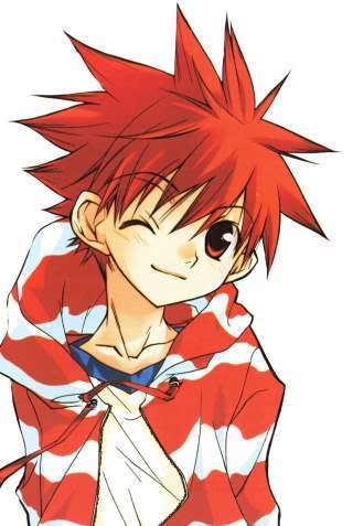haired man Red anime
