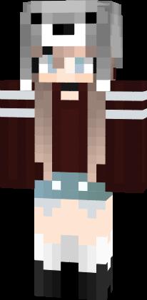 girl Cute minecraft skin anime