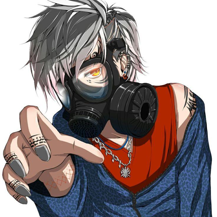 wearing Anime mask boy