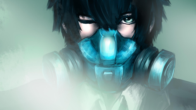 Anime boy wearing mask