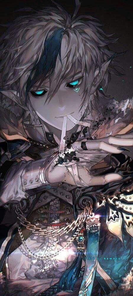 elf male dark Anime