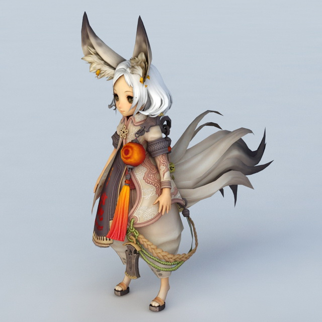fox spirit girl Anime