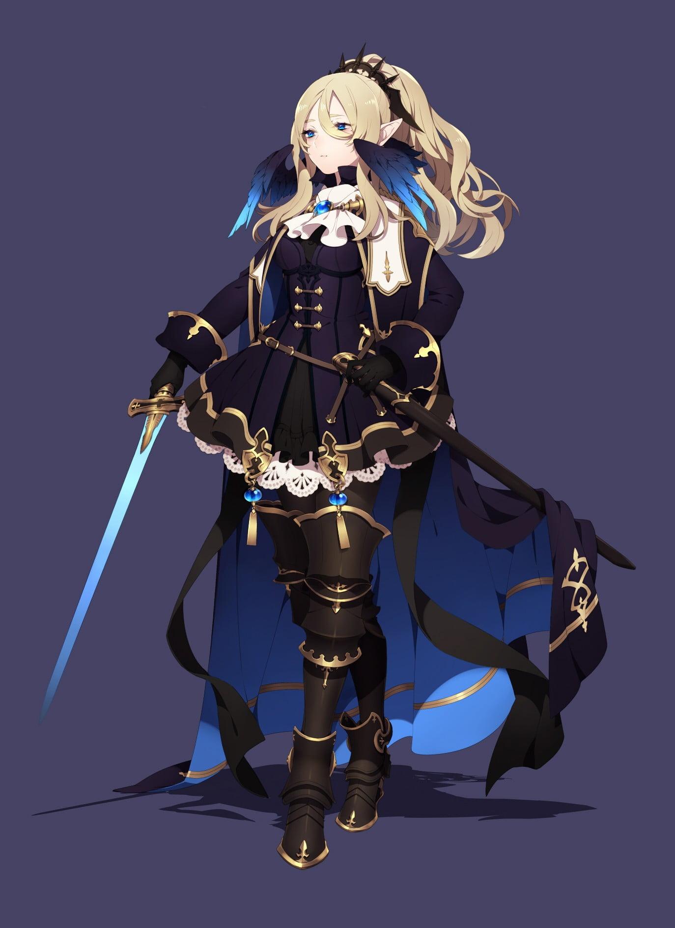 girl armor knight Anime