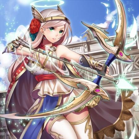 Anime girl with bow and arrow