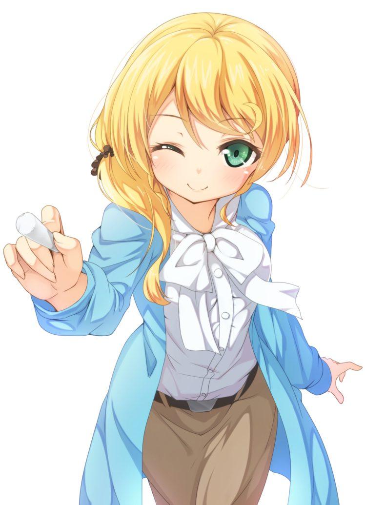 hair with dirty blonde Anime girl