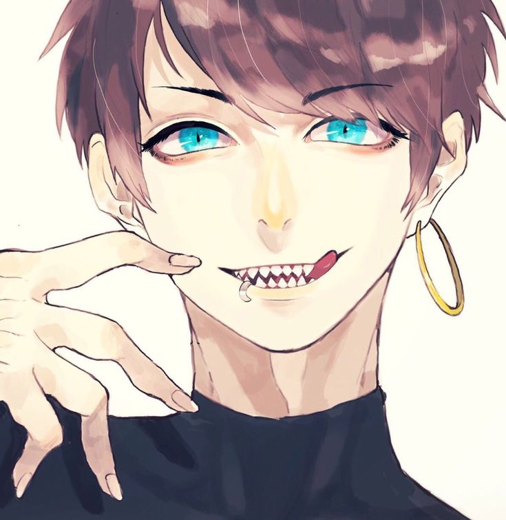 girl sharp teeth with Anime