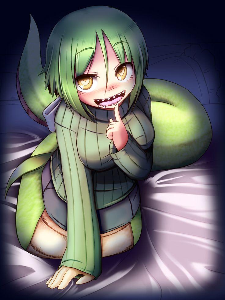 Anime girl with sharp teeth