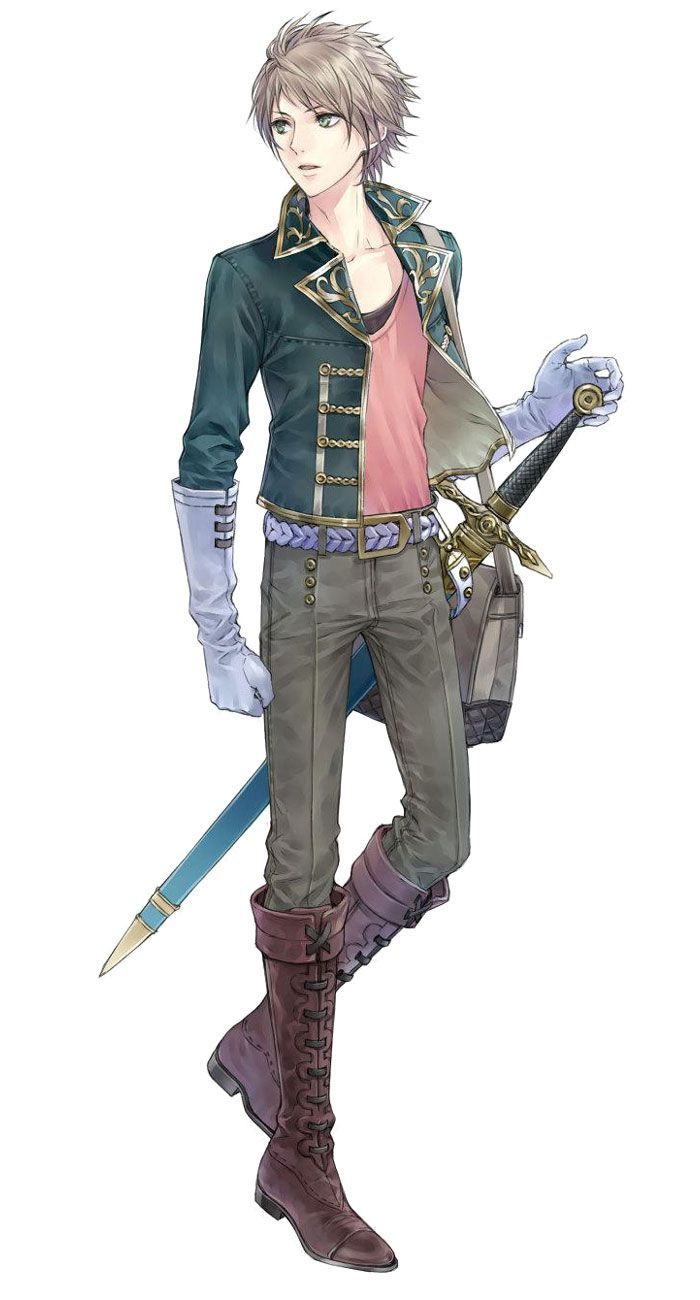 Anime guy with blonde hair and sword