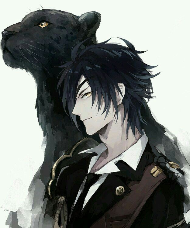 Anime guy with wolf