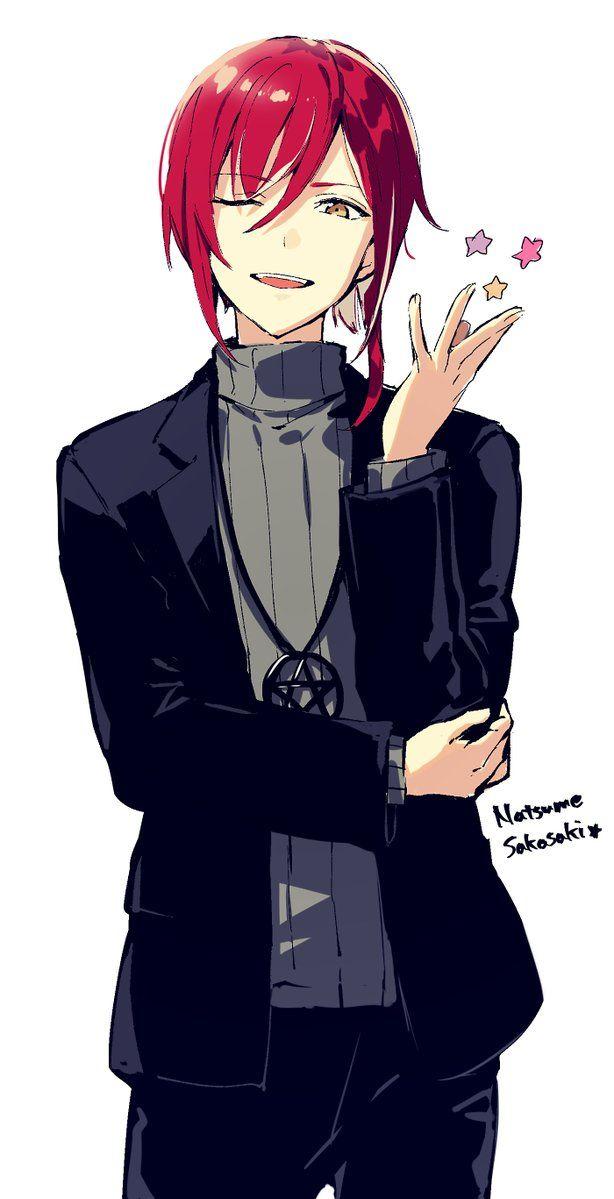 red hair man Anime