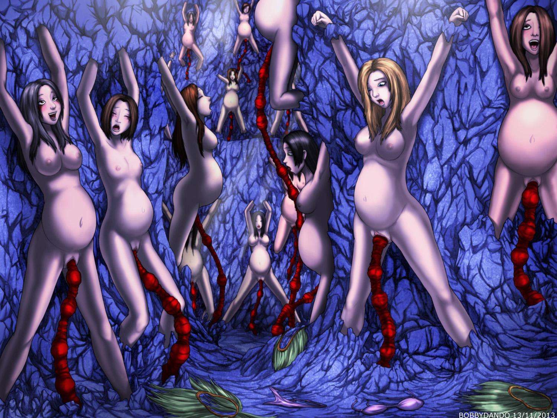 tentacle breeding nude Anime